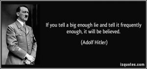 Image result for Hitler The Big Lie